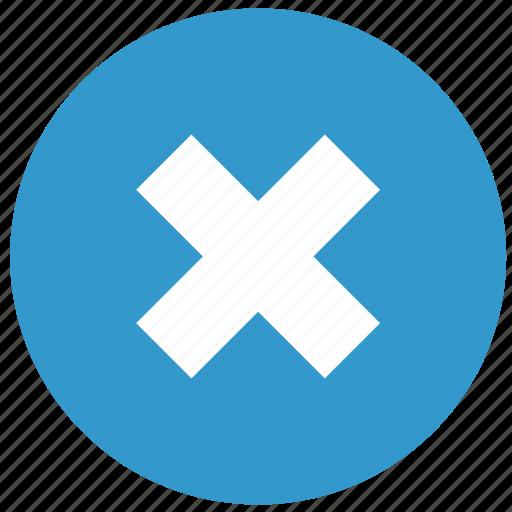 cancel, delete, remove, termination, wrong icon