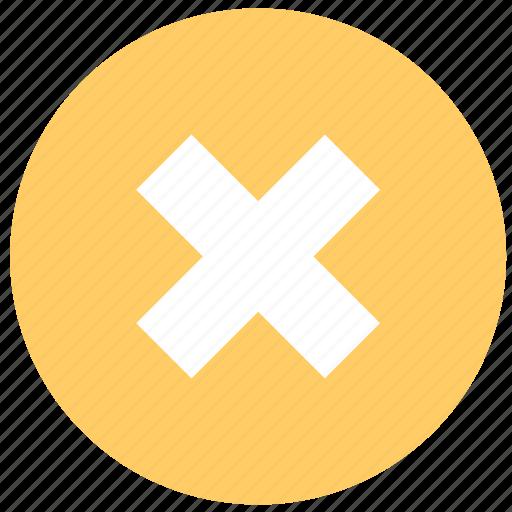cancel, delete, termination, wrong icon