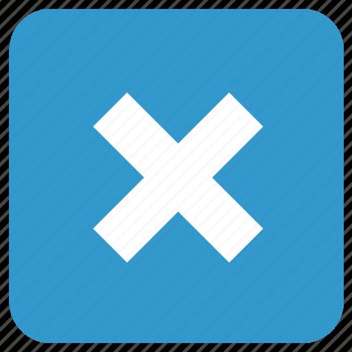 cancel, delete, remove, termination icon