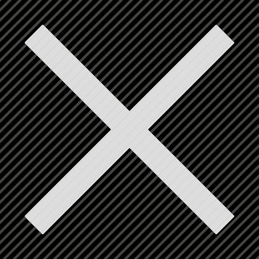 cancel, delete, grey delete, termination icon