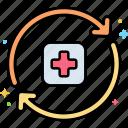 rehab, prevention, medical, relapse icon