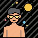 addiction, medical, sun, tanning icon