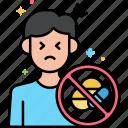 withdrawal, detox, rehab, symptoms icon