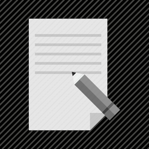 data, edit, information, pencil, store, update, write icon