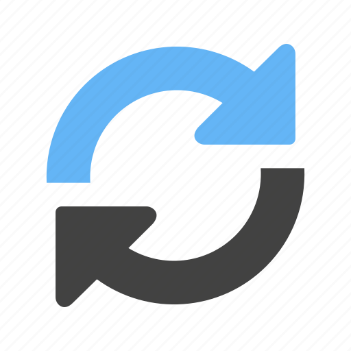 recycle, refresh, reload, repeat, restore, sync, synchronize icon