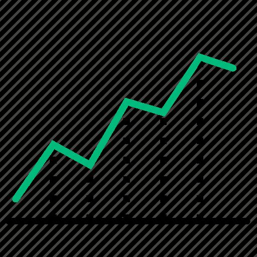 analysis, chart, data, line, statistics icon