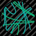 analytics, chord, data visualization, diagram, line icon
