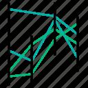 analytics, coordinates, data visualization, diagram, parallel icon