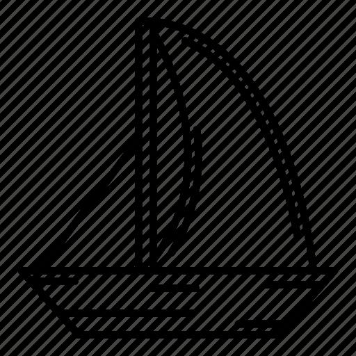 adventure, boat, sail, sailboat, sailing icon