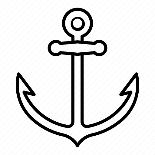 adventure, anchor, boat icon