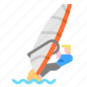 adventure, extreme, sea, sport, sports, windsurfing icon