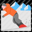 adventure, extreme, snowboard, sport, sports icon