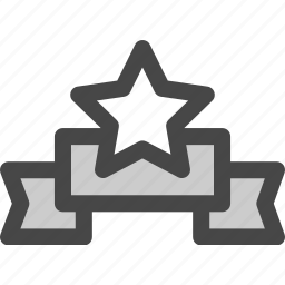 achievement, award, honor, reward, ribbon, star, victory icon