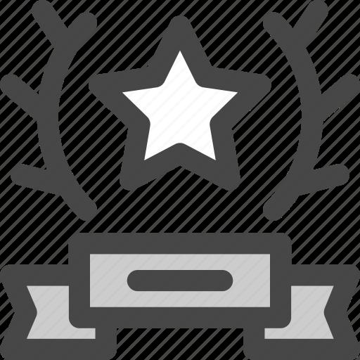 award, honor, laurel, reward, star, trophy, victory icon