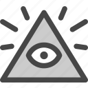 eye of providence, freemason, illuminati, pyramid, secret, society, triangle icon