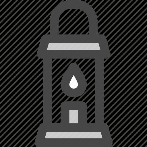 camping, candle, decor, illuminator, lantern, lighting icon