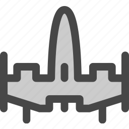 combat, fighter, rocket, ship, shuttle, space, spacecraft icon