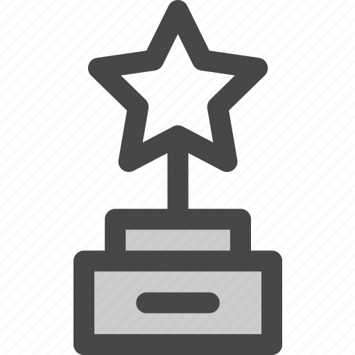 achievement, award, honor, reward, star, trophy, victory icon