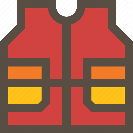 clothe, jacket, life, vest icon