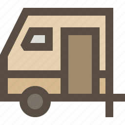 car, rv, trailer, vehicle icon