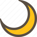 crescent, light, moon, night icon