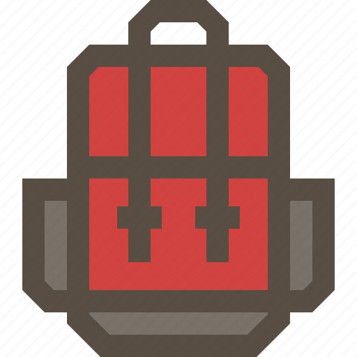 backpack, bag, carrier, travel icon
