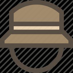 cap, hat, head wear, panama icon