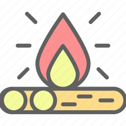 adventure, bonfire, camp, campfire, landscape, nature, outdoor icon