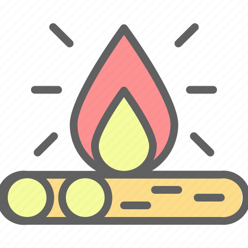 adventure, bonfire, camp, campfire, landscape, nature, outdoor icon