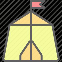adventure, camp, landscape, nature, outdoor, tent icon