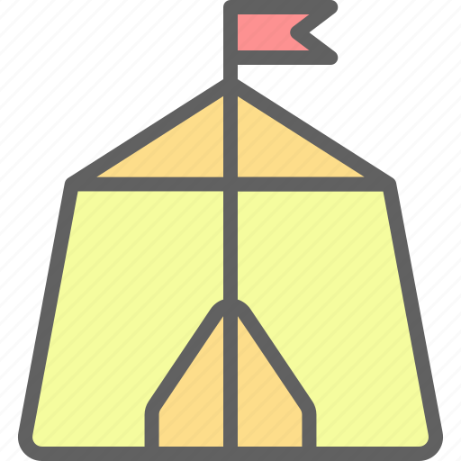adventure, camp, landscape, nature, outdoor, tent icon