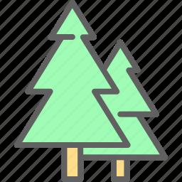 adventure, camp, landscape, nature, outdoor, tree icon
