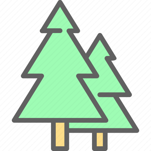 adventure, camp, landscape, nature, outdoor, tree icon