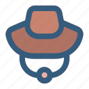 adventure, camp, hat, travel icon