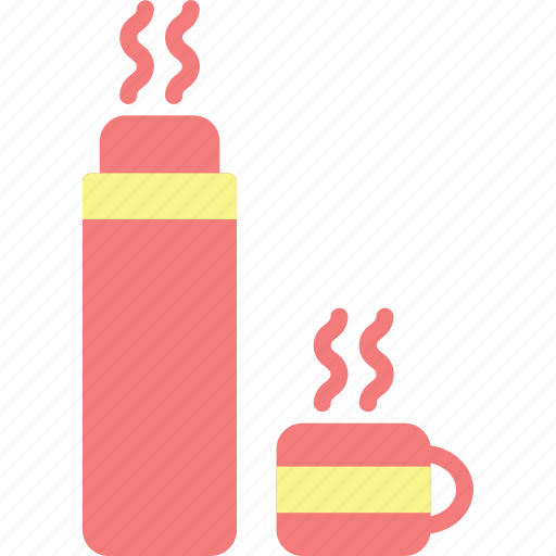 adventure, camp, landscape, nature, outdoor, thermos icon