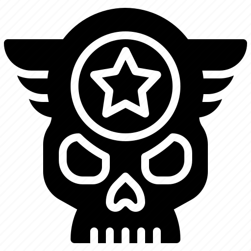 aircraft, army, force, jet, military, plane, skull icon