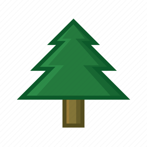 adventure, forest, green, leaf, pine, tree, trunk icon