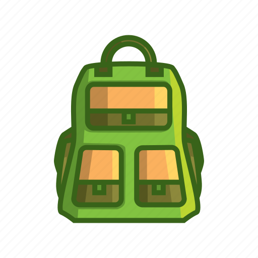 adventure bag, backpack, bag, poke, pouch, purse, sac icon