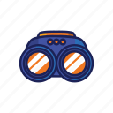 peek, telescope, peeper, binoculars, field glasses, peep, glasses icon