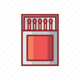 candle, fire, lamp, lighter, match, matches, safety match icon