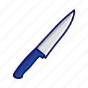 blue, knife, shank, sharp, shiv, sword, weapon icon