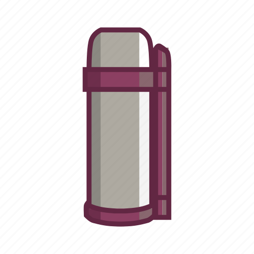 adventure, thermos, vacuum bottle, vacuum flask, water icon