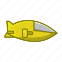 marine, sea, ship, sub, submarine, transportation, water icon