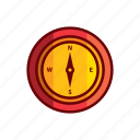 blackmail, compass, east, north, south, west, wind direction icon