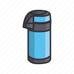 adventure, bottl, cup, drinking place, flask, thermos, water icon
