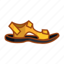 adventure, hiking, sandal, shoe, slippers, slippers mountain, sock icon