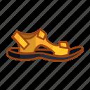 sandal, hiking, sock, slippers mountain, adventure, slippers, shoe icon