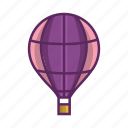 air balloon, aircraft, balloon, flight, fly, rubber, sky icon