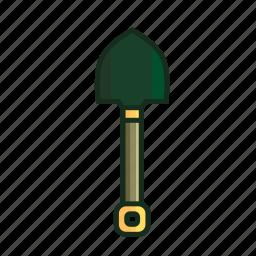 adventure, building, hoe, shovel, spade, trowel, work icon