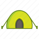 camp, camping, hood, outdoor, tabernacle, tent, tilt icon